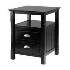 Timber Night Stand in Black