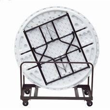 Welded Iron Folding Table Truck for Edge Stacking Round Tables - 28