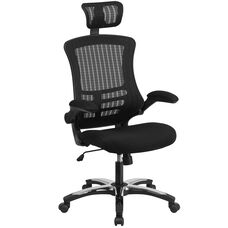 High Back Office Chair | High Back Mesh Executive Office and Desk Chair with Wheels and Adjustable Headrest