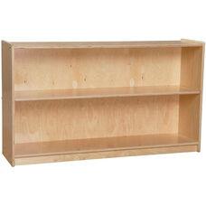 Contender Adjustable Two Shelf Wooden Bookcase - Unassembled - 46.75