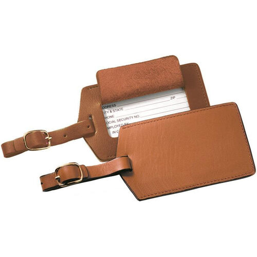Our Luggage Tag - Top Grain Nappa Leather - Tan is on sale now.