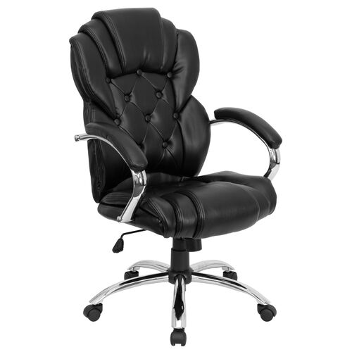 Our High Back Transitional Style Black Leather Executive Swivel Office Chair with Arms is on sale now.