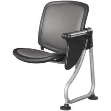 Ready Link Row Add-On Chair with Tablet - Charcoal