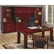 OSP Furniture Mendocino Hardwood Veneer Table Executive Suite