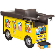 Pediatric Series Blood Drawing Station with Seat and Flat Top- Zoo Bus