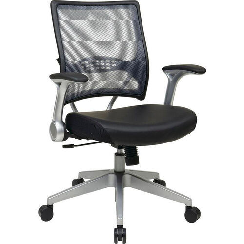 Our Space Light Air Grid® Back and Bonded Leather Seat Managers Chair with 2-to-1 Synchro Tilt - Black is on sale now.