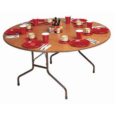 Standard Fixed Height Solid Plywood Core Oval Folding Table - 60