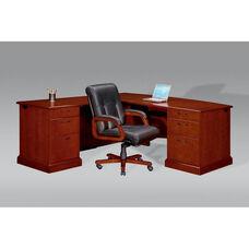 Belmont Left Executive L Desk - Brown Cherry