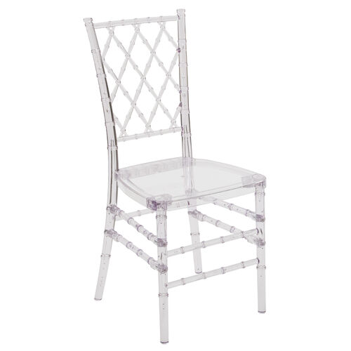 Flash Elegance Crystal Ice Stacking Simplicity Chair