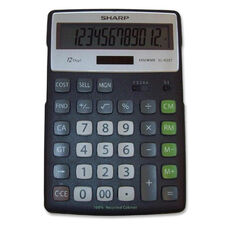 Sharp 12 Digit Calculator -Semi Desktop -5 1/2