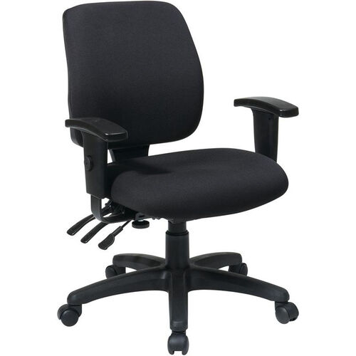 Our Work Smart Mid Back Dual Function Ergonomic Chair with Back Height Adjustment and Arms - Black is on sale now.