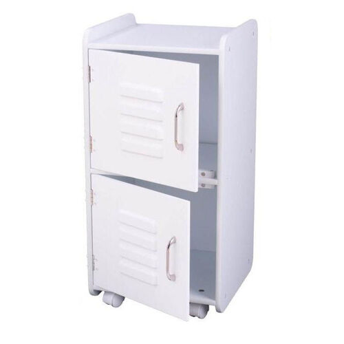 Our Kids Toys Books and Clothes Storage Medium Wooden Two Door Locker - White is on sale now.
