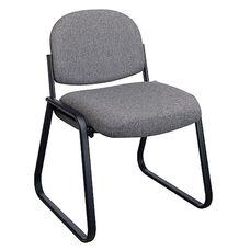 Work Smart Deluxe Padded Sled Base Chair with Designer Plastic Shell Back