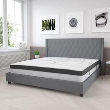 Capri Comfortable Sleep 12 Inch CertiPUR-US Certified Hybrid Pocket Spring Mattress, King Mattress in a Box
