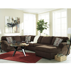 Signature Design by Ashley Jayceon 3-Piece Left Side Facing Sofa Sectional in Java Fabric