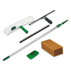 Unger® Pro Window Cleaning Kit w/8ft Pole - Scrubber - Squeegee - Scraper - Sponge