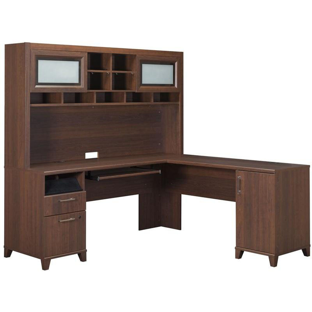 Our Achieve L Shaped Computer Desk With File Drawer In Sweet Cherry Finish Is On