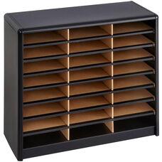 Value Sorter® Twenty-Four Compartment Literature Sorter and Organizer - Black