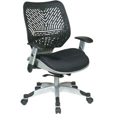 Space REVV Self Adjusting SpaceFlex Back and Mesh Seat Managers Chair with Adjustable Arms - Raven