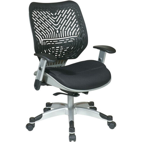 Our Space REVV Self Adjusting SpaceFlex Back and Mesh Seat Managers Chair with Adjustable Arms - Raven is on sale now.