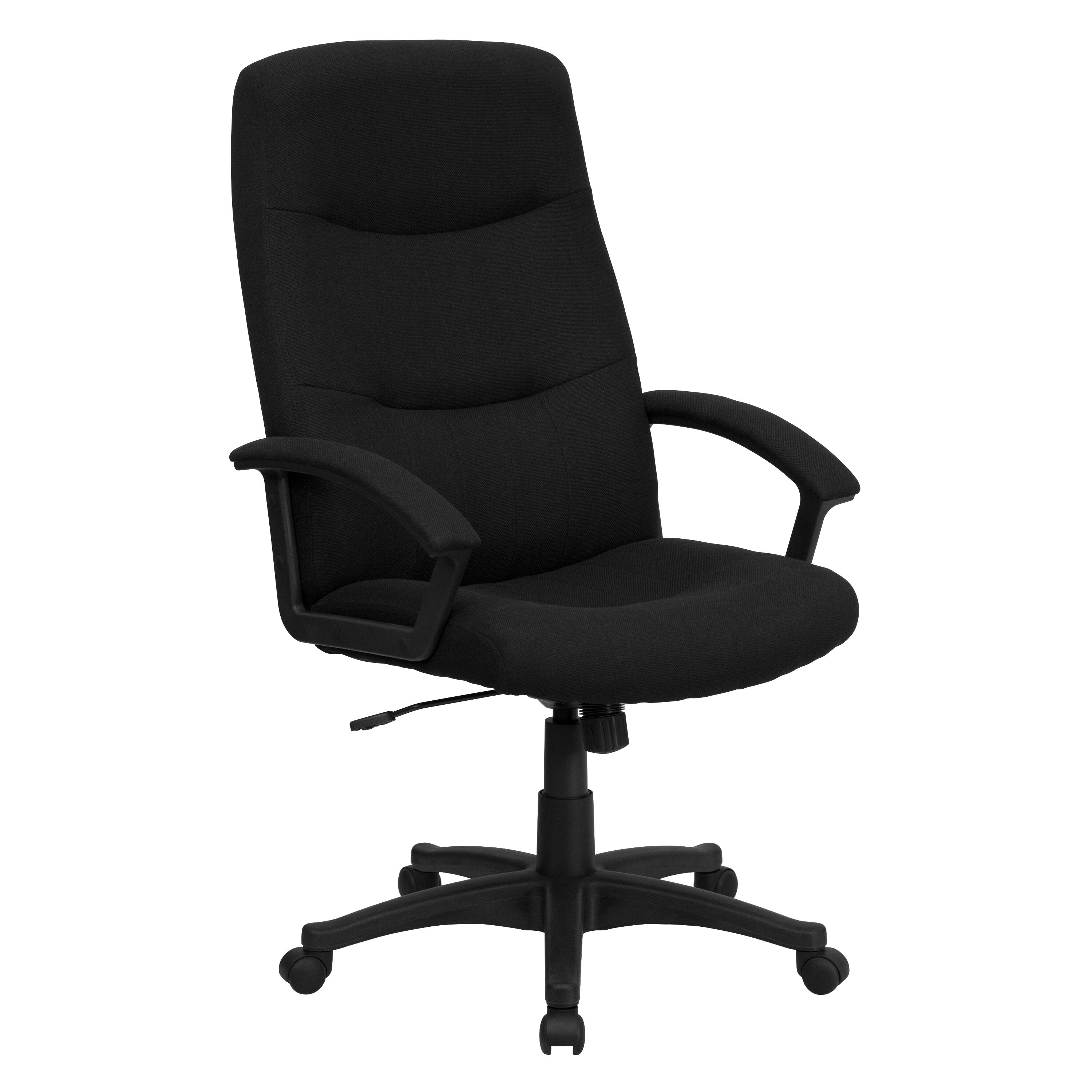 Nice ... Our High Back Black Fabric Executive Swivel Chair With Arms Is On Sale  Now.