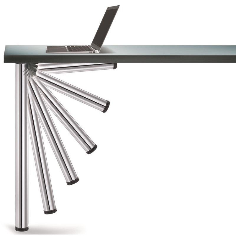... Our Chrome Push Button Set Of 4 Foldable Table Legs With Mounting  Hardware   27.75