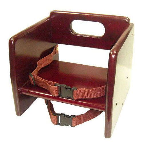 Our Mahogany Finish Wood Stacking Booster Seat is on sale now.