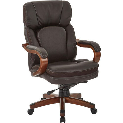 Our Inspired By Bassett Van Buren Bonded Leather Knee Tilt Executive Chair - Espresso is on sale now.