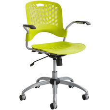 Sassy® Manager Swivel Chair with Flexible S Wave Design - Grass with Silver Base