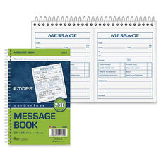 Tops 2 Calls Per Page Phone Message Book