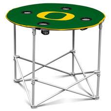 University of Oregon Team Logo Round Folding Table