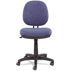 Alera® Interval Swivel/Tilt Task Chair - Tone-On-Tone Fabric - Marine Blue