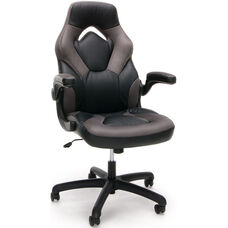 Essentials Racing Style Leather Gaming Chair - Gray