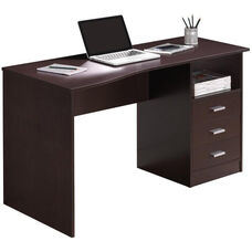 Techni Mobili Classic Computer Desk with Multiple Drawers - Wenge
