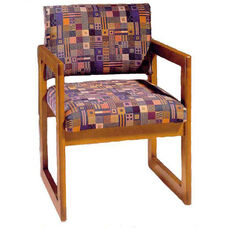 3300 Reception Chair w/ Upholstered Back & Seat - Grade 1