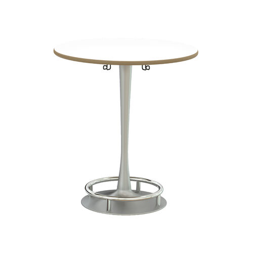 Our Focal™ Collision Table - White Dry Erase Surface Top with Silver Base is on sale now.