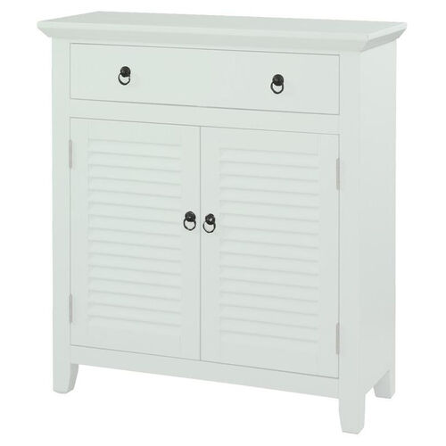 One Drawer and Two Door Shutter - White