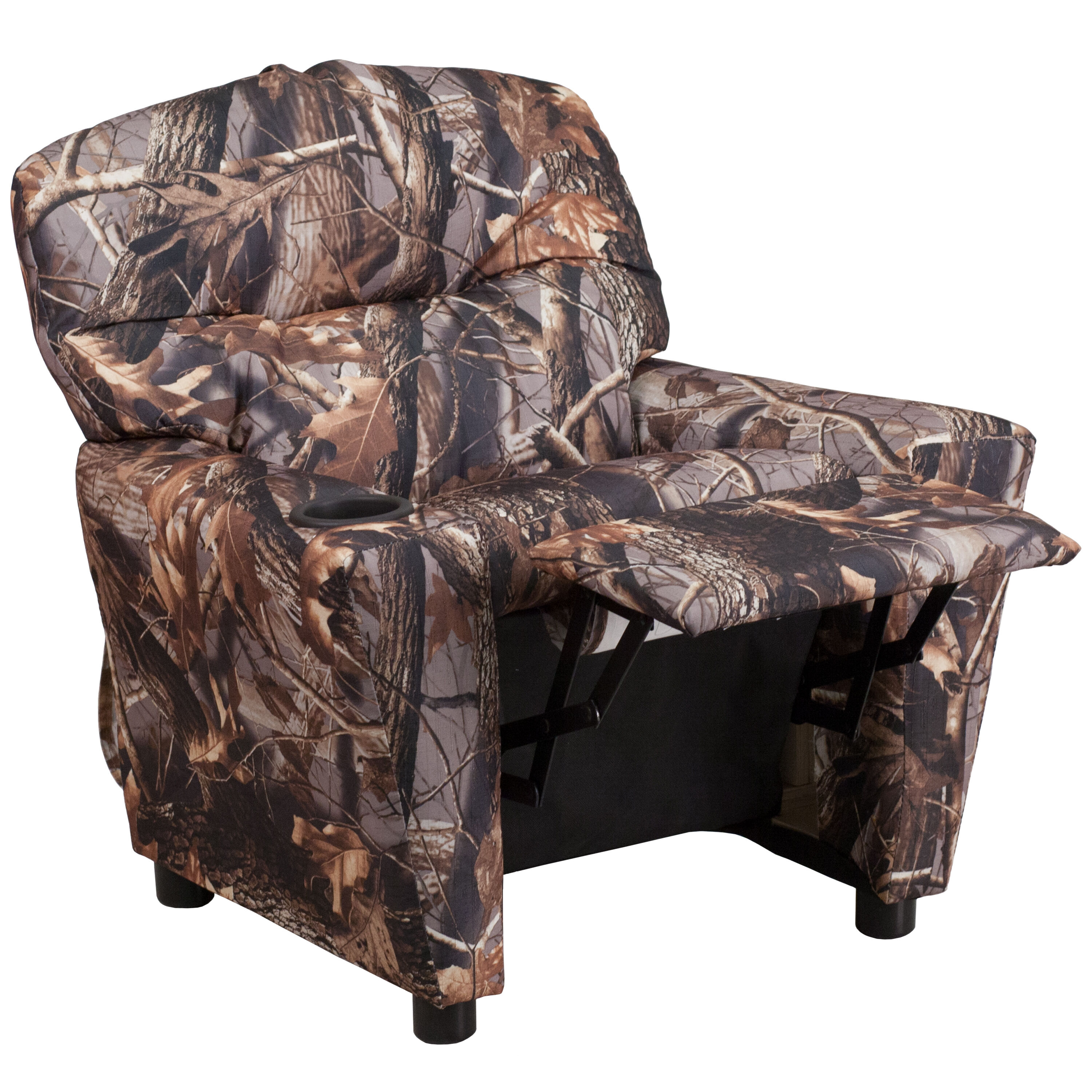 Wonderful Images. Contemporary Camouflaged Fabric Kids Recliner ...