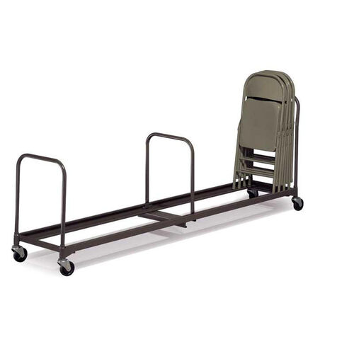 Our Single Level Powder Coated Steel Folding Chair Caddy with Casters - 21