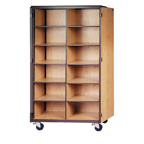 Mobile Cubicle Storage w/Unitized Frame and Adjustable Shelves
