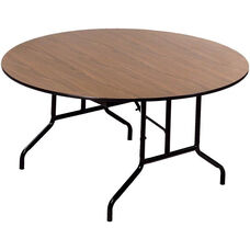 Round Laminate Top and Plywood Core Folding Seminar Table - 66