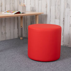 "Soft Seating Collaborative Circle for Classrooms and Common Spaces - 18"" Seat Height (Red)"