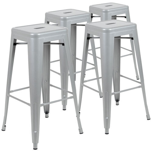 """Our 30"""" High Metal Indoor Bar Stool - Stackable Set of 4 is on sale now."""