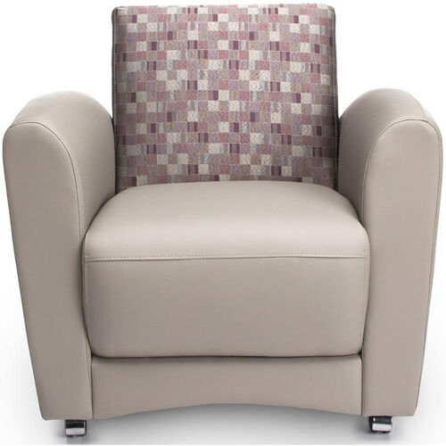 Our InterPlay Chair - Plum and Taupe is on sale now.