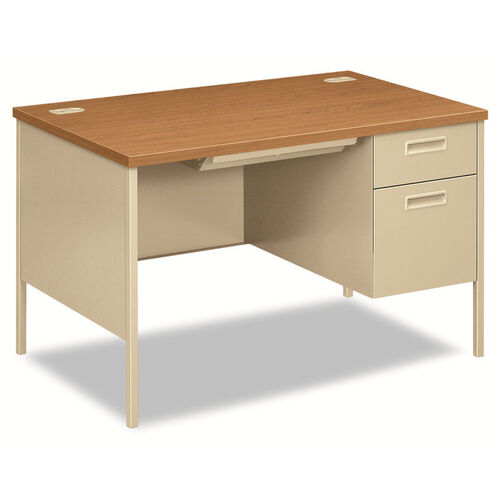 Our HON® Metro Classic Right Pedestal Desk - 48w x 30d x 29 1/2h - Harvest/Putty is on sale now.