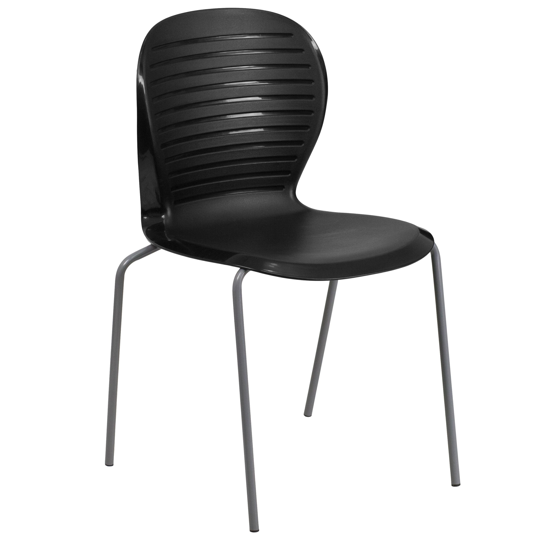 HERCULES Series 551 Lb. Capacity Black Stack Chair