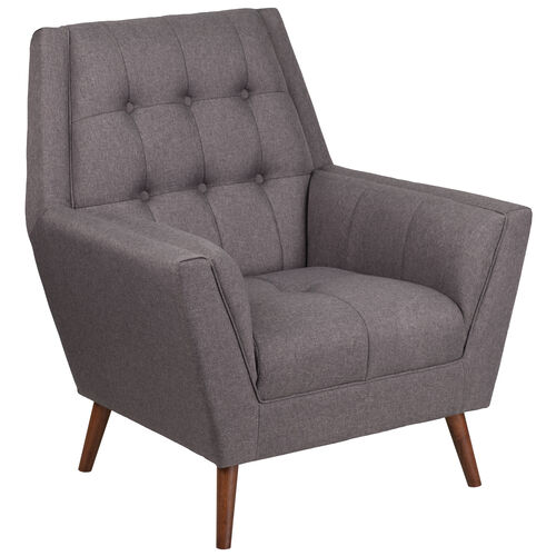 Our HERCULES Kensington Series Contemporary Gray Fabric Tufted Arm Chair is on sale now.
