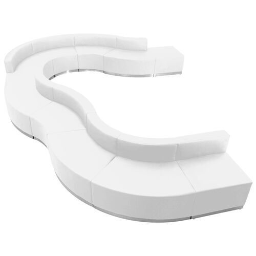 Our HERCULES Alon Series Melrose White Leather Reception Configuration, 11 Pieces is on sale now.