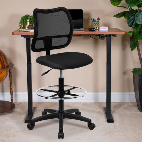 Our Mid-Back Mesh Drafting Chair is on sale now.