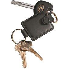 Valet Key Fob - Top Grain Nappa Leather - Black